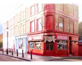 London photography, London art print, Notting Hill antique shop, England, London home decor, Portobello Road, Alice's antique shop, 11x14