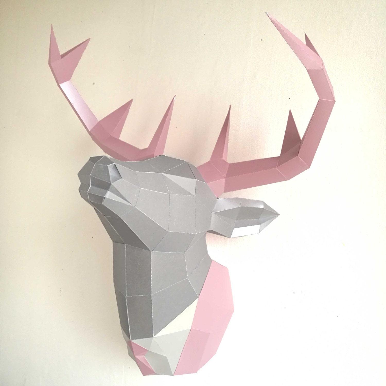 Papercraft Deer Head Make Your Own Trophy Paper Trophy
