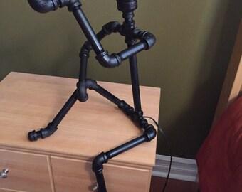 Table Lamp, Modern Lamp, Industrial Pipe Lamp