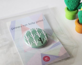 Badge multi cactus made hand original green child