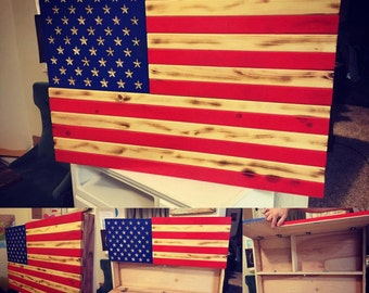 LOCAL PICK UP American Flag Cabinet/Gun Case
