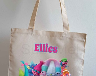 Personalised Trolls Tote Bag 41cm x 38cm.