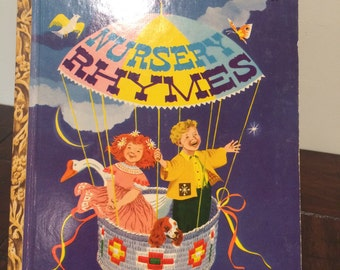 "Vintage 1948 Nursery Rhymes, Little Golden Book /First Edition ""A"" book"
