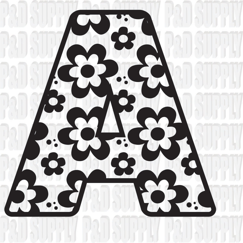 Download A-Z Alphabet Letter Monogram SVG, DXF Digital cut file for ...