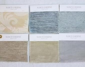 6 Squares NANCY CORZINE TEXTILES Designer Curtain Upholstery Craft Fabric New