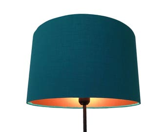 Teal Copper Inner Lampshade - Pendant or Stand Lamp Fitting 35cm
