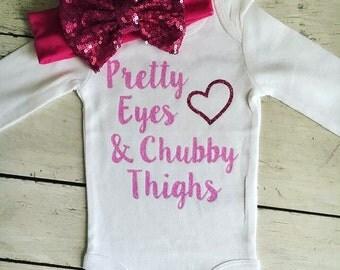 Pretty Eyes Chubby Thighs Bodysuit