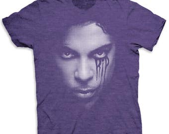 Prince Inspired Tribute Crying RIP Mens Tee T-shirt- Shirt-Tee-Graphic