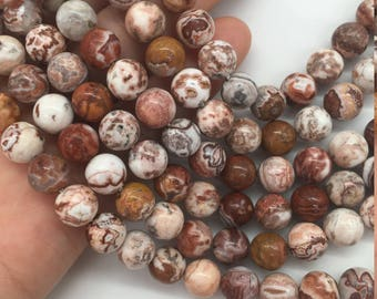 1Full Strand 8mm Crazy Lace Agate Round Beads, Crazy Lace Agate Gemstone For Jewelry Making