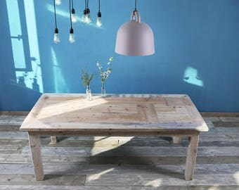 Timber table in rustic of Roos 200x100cm