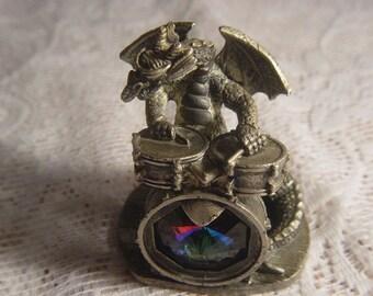 the tudor mint,myth and magic pewter dragon,lets go man 3166 by mark locker