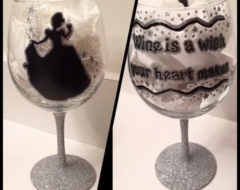 Cinderella Wine Glass