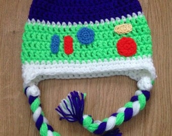 Buzz Lightyear toystory inspired character crochet hat age 4-6