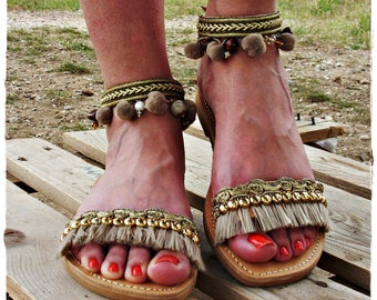 "Valia""luxurious leather sandals,Grek sandals,handmade sandals"