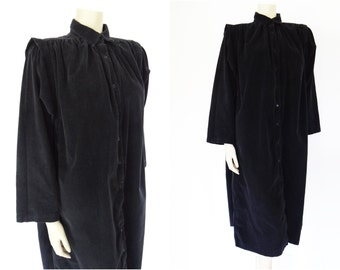 Free Global Shipping* Plus Size Vintage Dress, Smock, Black Cord, Shirt Dress, Festival Clothing, Hippie Clothing, Curvy, Retro, Boho Dress