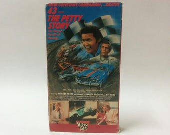 43 - The Petty Story Vintage VHS NASCAR Southern Biopic Movie Video 1972