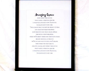 Massif image for amazing grace lyrics printable
