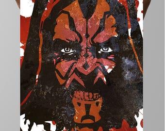 Star Wars fan poster, Sith Lord, Sheev Palpatine, Darth Maul, Movie poster art