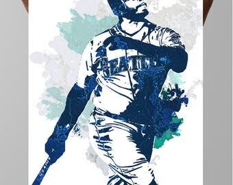 Ken Griffey Jr., Seattle Mariners, Sports Poster, Fan art, Sports wall art