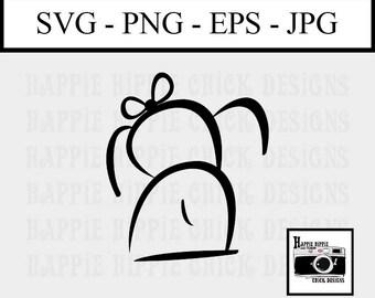 Dog SVG File - SVG Cut File - Cut Files for Cricut - Cut Files for Silhouette - Doodle Dog - Dog Clip Art - Dog Art Print - Girl Dog - Art