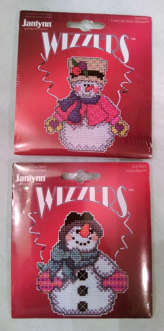 Cross Stitch Kit Snowmen Janlynn Wizzers Sugar Plum Express