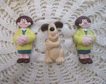 Wallace and Gromit figures - Wendolene and Gromit