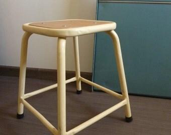Military industrial stool, vintage 1970's vintage