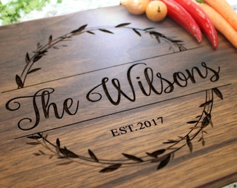 Personalized Cutting Board - Engraved Cutting Board, Custom Cutting Board, Wedding Gift, Housewarming Gift, Anniversary, Engagement W-040 GB