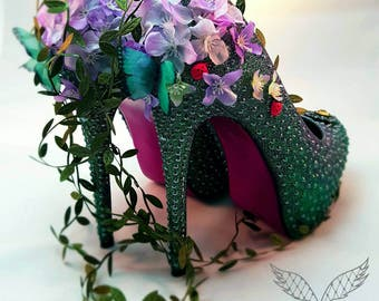 Enchanted Forest Bridal Shoes