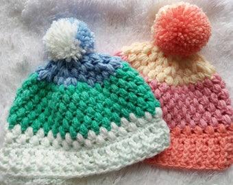 Puff Stitch Baby Beanies Free Shipping