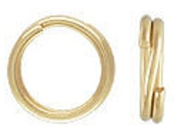 8mm Gold Filled Split Rings 30 pcs.