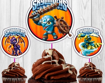 40 Toppers of Skylanders  for cupcakes download Instantaneous, printable, high quality, PDF file.