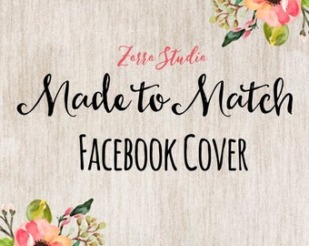 Made to match Facebook Cover, Choose from Any of my Shop Designs