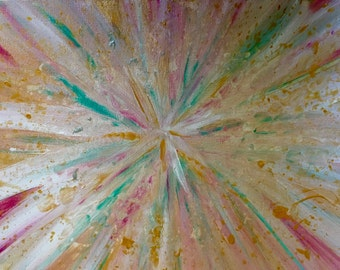 Acrylic Explosion Painting