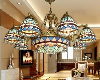 Hand made chandelier Tiffany Style Mediterranean chandeliers