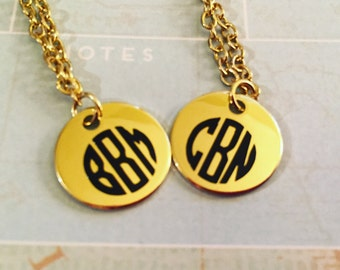 Monogram Necklace ~Gold or Silver~