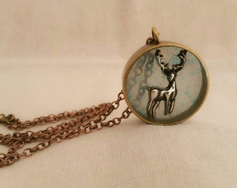 Deer necklace.