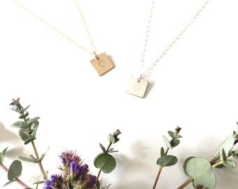 Mini Heart Bar Necklace / Heart Necklace / Personalized / Gifts For Her / Bridesmaids Gift / Mother's Day Gift / Engagement Gift