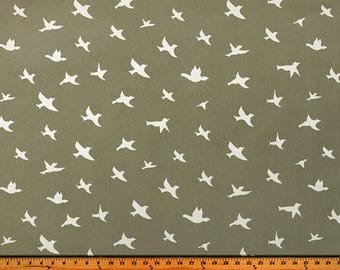 Bird Silhouette Storm/Twill, Fabric by the Yard