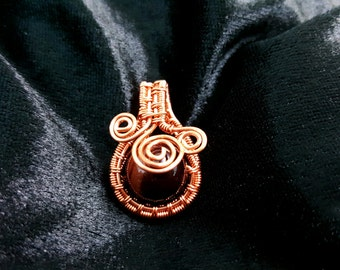 Beautiful Tiger Eye Wire Wrapping Pendant