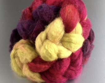 Hand-dyed combed tops BFL/superwash No. 66