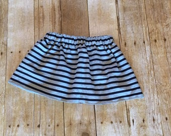 Baby skirt, toddler skirt, french terry skirt