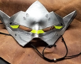 Leather Genji Mask, Overwatch - Made to Order