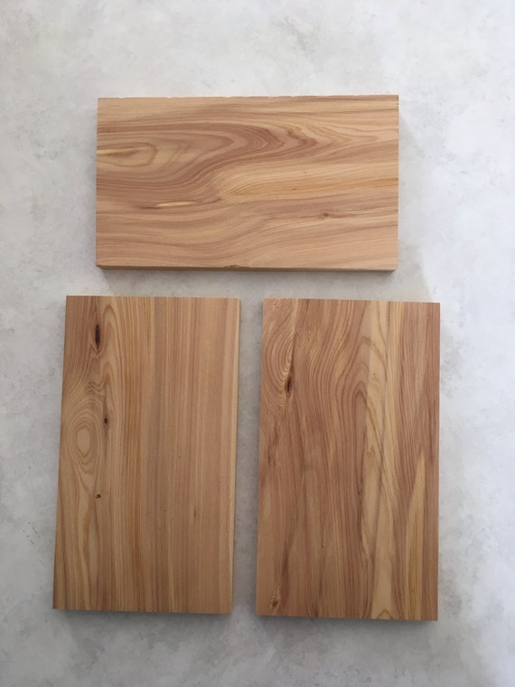 set of 3 4 x 7 x 1 2 thick cedar wood slabs from