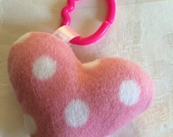 Crinkle heart baby toy