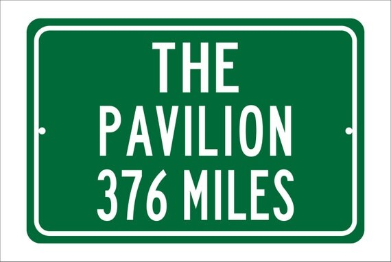 Custom College Highway Distance Sign to The Pavilion | Home of the Villanova Wildcats |  Wildcats Basketball | Villanova University|