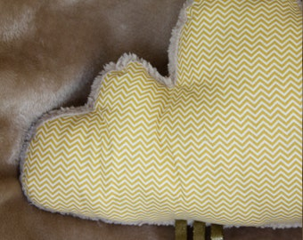 Cloud pillow / cushion deco / Golden geometric cloud pillow / deco Interior