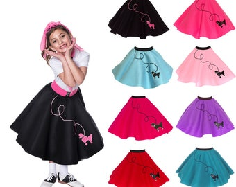 MEDIUM Child (7-9) 50's POODLE SKIRT