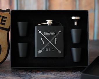 Custom Groomsmen Flask Set, Best Man Gift Box, Groomsmen Gift Set, Will You Be My Groomsman, Personalized Gift Set, Wedding Party Favors