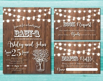 babyq baby shower invitations babyq shower baby q rustic baby shower